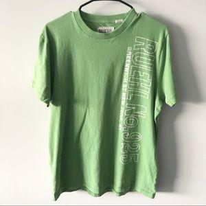 Ruehl No. 925 Green T-shirt Short Sleeves Crew